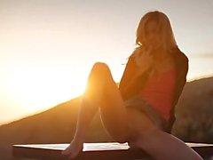 Sunset in Malibu in art pose movie