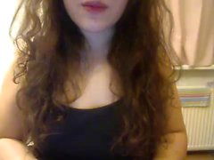 Delightful young camgirl sensually massages her wonderful b