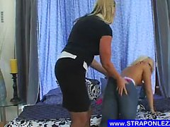 Lazy blonde gets fucked difficult