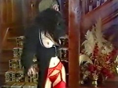 LUCKY NUMBER - vintage goth in stockings dances and teases