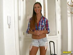 Cock hungry Victoria sweet riding in reverse cowgirl
