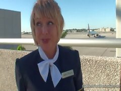 Pantyhose Footjob - Flight Attendants Little Black Book