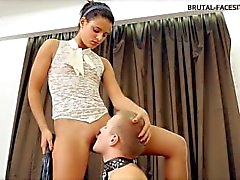 Beautiful sexy facesitting mistress