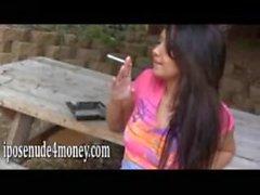 Barely Legal Teen Smokes