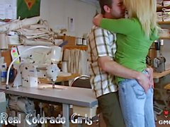 Hot Blonde Fucked At Work By Her Boss