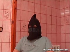 Kinky masked girl is caught in BDSM play