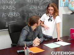 Dumb Student Seduces Teacher