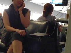 Candid atractiva del Aeropuerto
