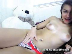 Hot webcam Babe cavalca il suo giocattolo