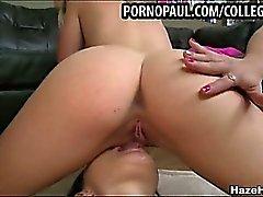 Hetero College Mädchen essen Pussy