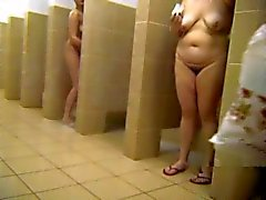 Russian matures in the public shower 4 by Clessemperor