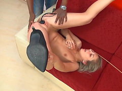 Pretty Blonde Slut gets Pussy Fucked and Facial from BBC