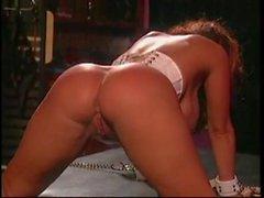 Smoking hot big tits mistress taking care of her big tits slave
