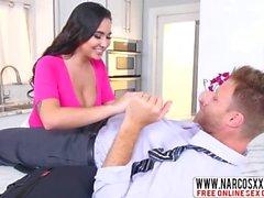 Assertive Girlfriends Little Sister Karlee Grey Wants Brutal Cock