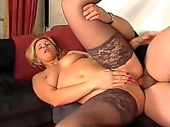 Blonde Hottie in Stockings Anal Fucking
