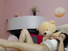 Hot Teen Brunette Dildoing On Webcam Part 1