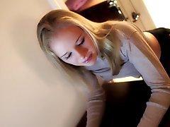 cute blonde spanked