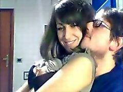 Cute Italian Girl groped and fucked on webcam