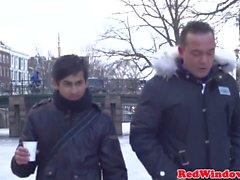 Amsterdam turist fälgar äkta hooker på kamera