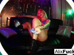 Alix Lynx plays with her tight wet pussy