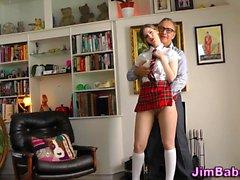 Stockings teen jizzed on
