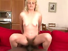 Mature slut rides on a big black cock