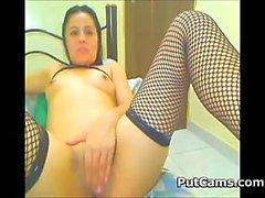 Latina With Fishnet Stockings