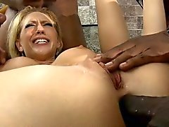 Busty slut Kagney Lynn Karter all holes fucked by black men