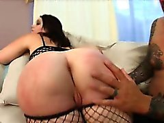 The bootiful Cherish Ley stopped by the studio this week to show us her asssets. This Bay Area brat knows how to suck the juice out of a hard cock not to mention how to shake but not break a stiff one. Watch as we oil up that big bubble booty and spank it