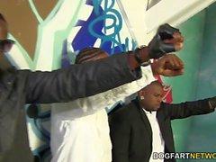 Brooklyn Chase Gets Ganbanged at Interracial Blowb