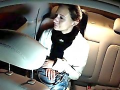 Revenge sex tape in fake taxi