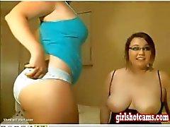 Duas meninas e um cara Webcam Mostrar