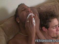 Ebony стад играть Джок ремень со бойфрендом