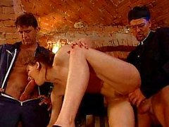 Italian Mature fucked by Father and Plumber