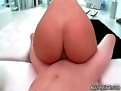 Sexy petite blonde with a big round ass part2