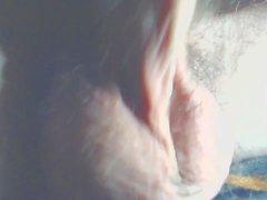 palle pelose del primo piano orgasm
