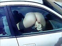 Dildo arabayı penceresinde