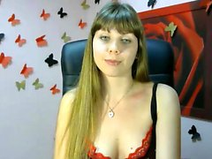 Very Horny Brunette MILF strips on webcam