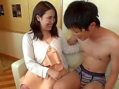 Busty Japanese Sana swallows cum