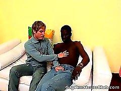 Sweety blonden Hobby Homosexuell von Cristian ergibt job bis schwarze