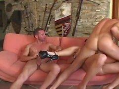 Liliane Tiger Gangbanged and Creamed by 3 Big Cocks