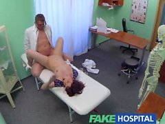 FakeHospital Sexy brunette learns that only hard cock can cure her