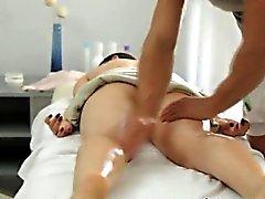 Big breast Russian female gets a voluptuous massage