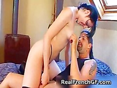 Sexy goth french girl fucked hard part5