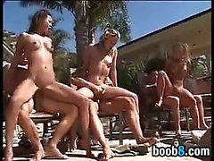 Hot And Wild Outdoor Orgy