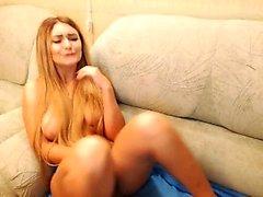 Cute Blonde Babe Solo Masturbation