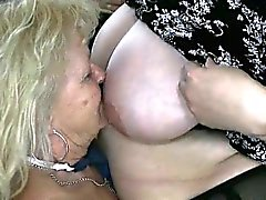 Blonde granny loves having lesbian sex part1