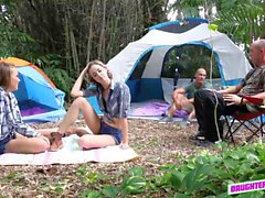 Alyssa Cole and Haley Reed fucks outdoor