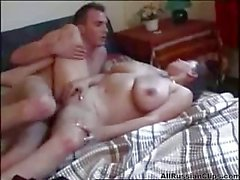 Russian Brunette With Big Tits Fuck
