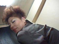Asian fetish lesbians in uniform licking pussy